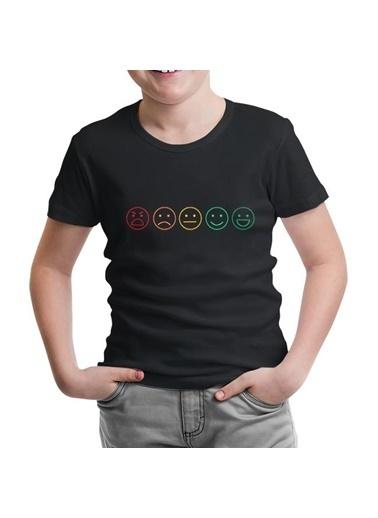 Lord Tshirt Emoji Siyah Çocuk Tshirt Siyah